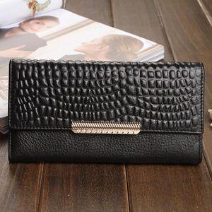 6c8b3221921 Portefeuille femme cuir veritable noir - Achat   Vente pas cher