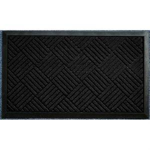 PAILLASSON Tapis d'entrée 45x75cm carreaux noir