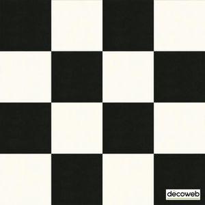 SOLS PVC - PLINTHE PVC Sol PVC Best - motif carrelage Damier Blanc Noir -