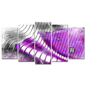 TABLEAU - TOILE Tableau Déco Design Vagues Abstraites - 150x80 cm