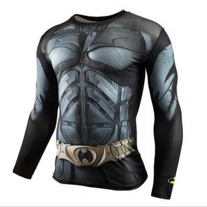 BATMAN Fitness Compression de Chemise Men Superman Culturisme manches  longues 3D T-shirt 94baf7fc6f2