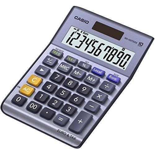 CASIO Calculatrice de bureau MS100TER II bleue