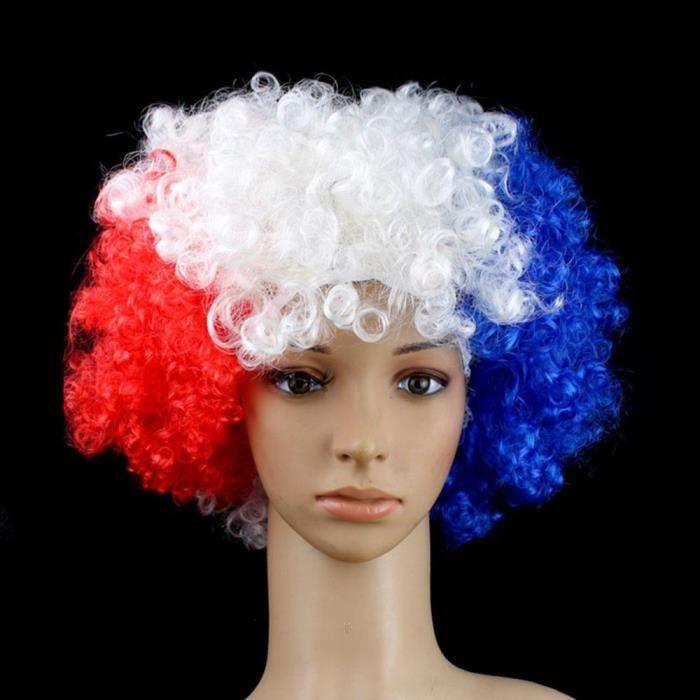 Perruque France de Supporter Mondial 2018