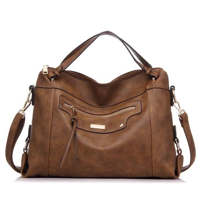 Grand Sac En Cuir Pu De Taille Pour Les Femmes Office Shoulder Bag PU7H7