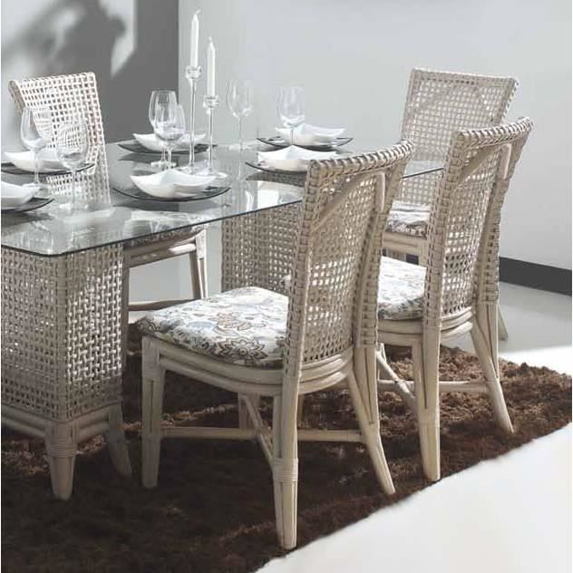 Chaises pour salles manger en rotin mod le arvind for Table et chaise en rotin