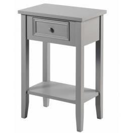 meuble de chevet table de nuit taupe 1 ti - Table De Nuit Etagere