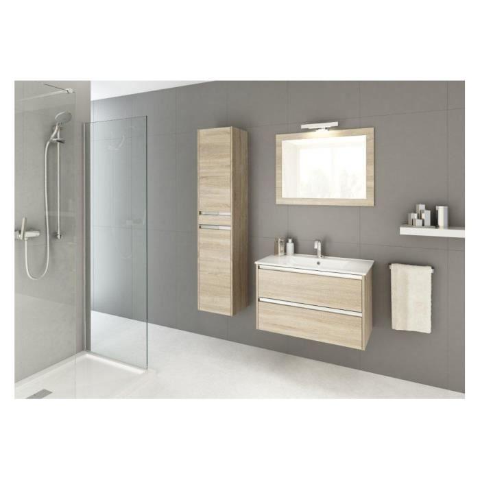 Ensemble de salle de bain fonte 60cm ch ne sonoma achat - Vendeur de salle de bain ...