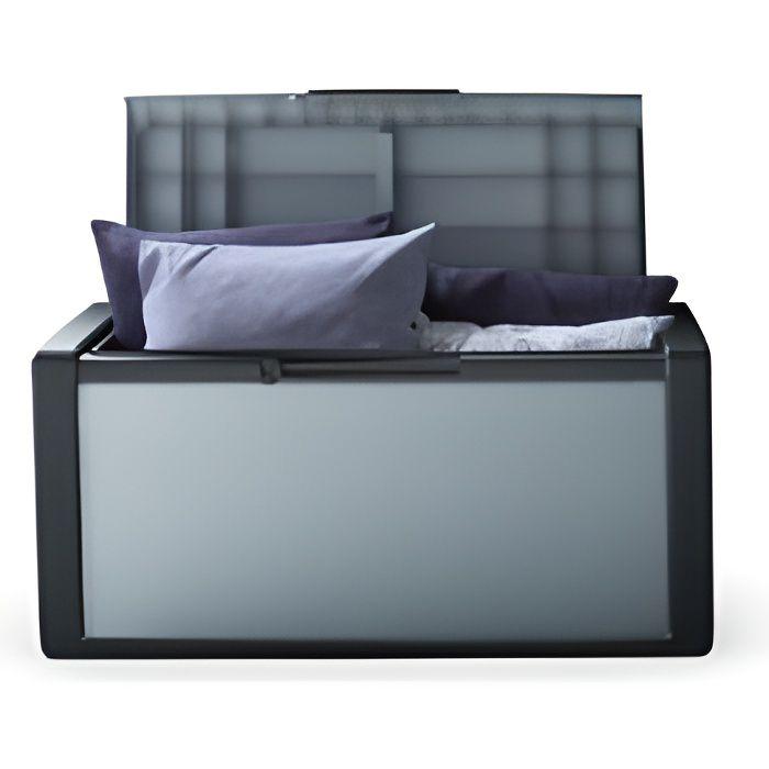 Coffre de rangement titan 300 litres grey black achat for Grand coffre de rangement exterieur