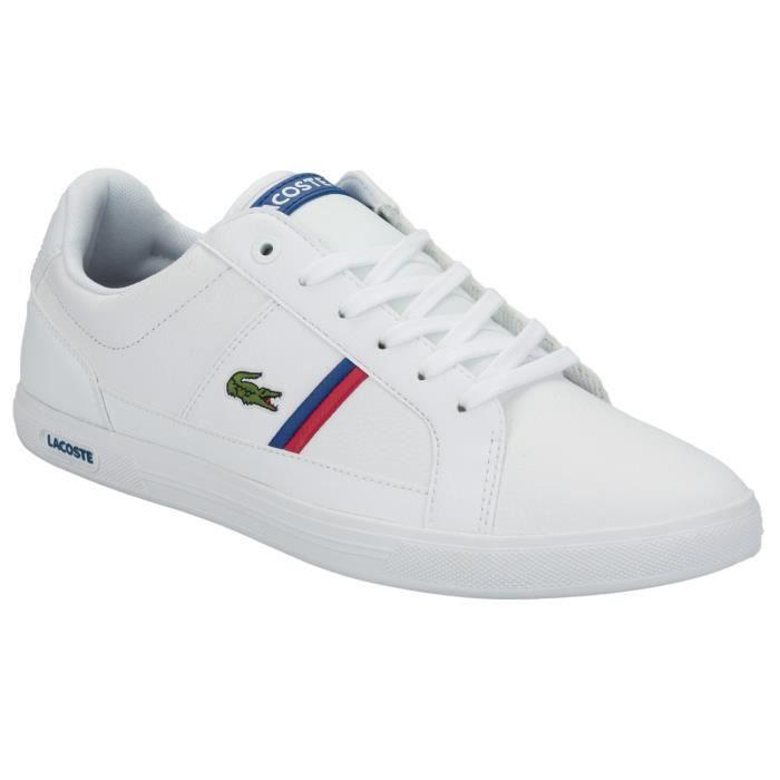d9de500604 Baskets Lacoste Europa pour homme en blanc Blanc - Achat / Vente ...