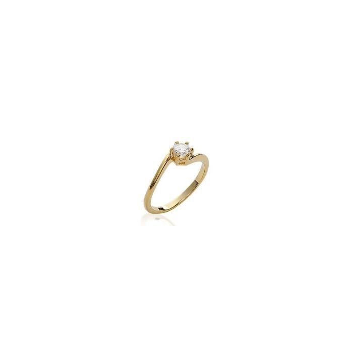 Isady - Daisy Gold - Bague Femme - Plaqué Or 18K - Oxyde de zirconium