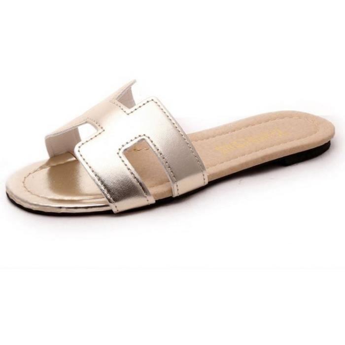 Femmes Femme Sandales De Mode Grande Cool Meilleure Sandale Marque Qualité Luxe Nouvelle EWDH2I9