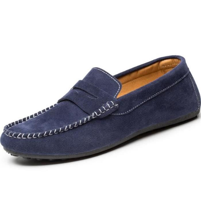 chaussures homme Marque De Luxe Moccasin hommes Confortable Grande