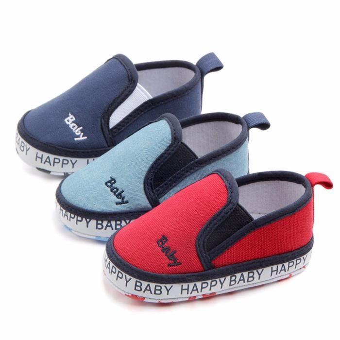 e7d9116168fcf Lavieni ®Nouveau-né Bébé Broderie Solide Anti-dérapant Doux Occasionnel  Chaussures Paresseuses Sneaker SCH71230832