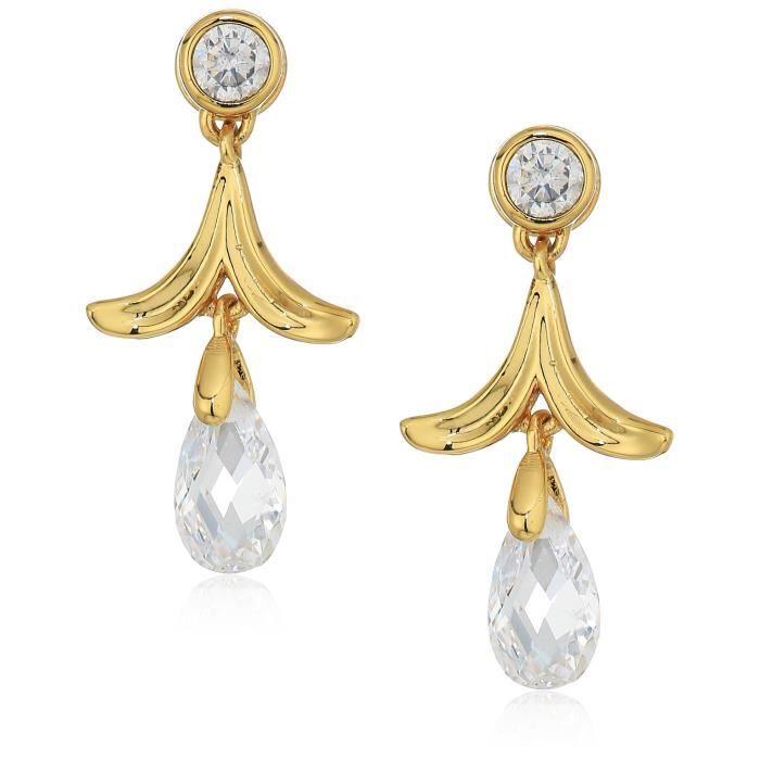 Nicole Miller Briolette Petal Drop Earrings LN9LP