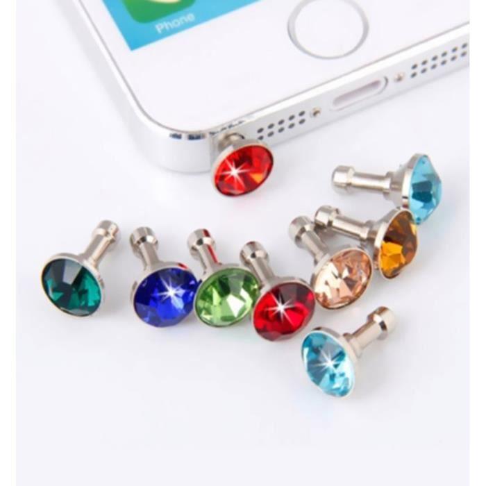 ANTI-POUSSIÈRE Lot x5 Cache Prise Jack Diamant pour LG K8 4G Smar
