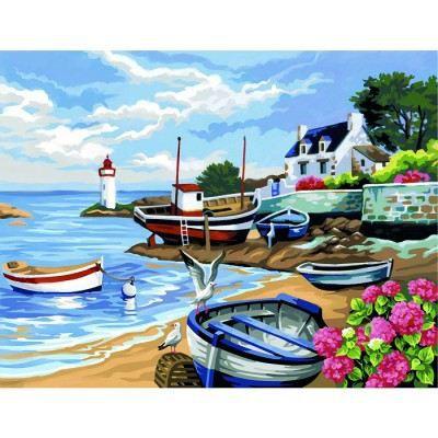 peinture au num ro initi s rivage breton achat vente peinture au num ro peinture au. Black Bedroom Furniture Sets. Home Design Ideas