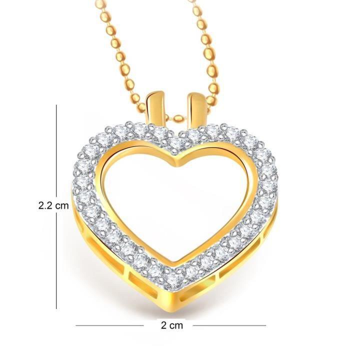 Femmes Vk Bijoux Coeur de Valentine Collection Brass alliage dor Cz américain Pendentif diamant pour Vkp19 V8ZF1