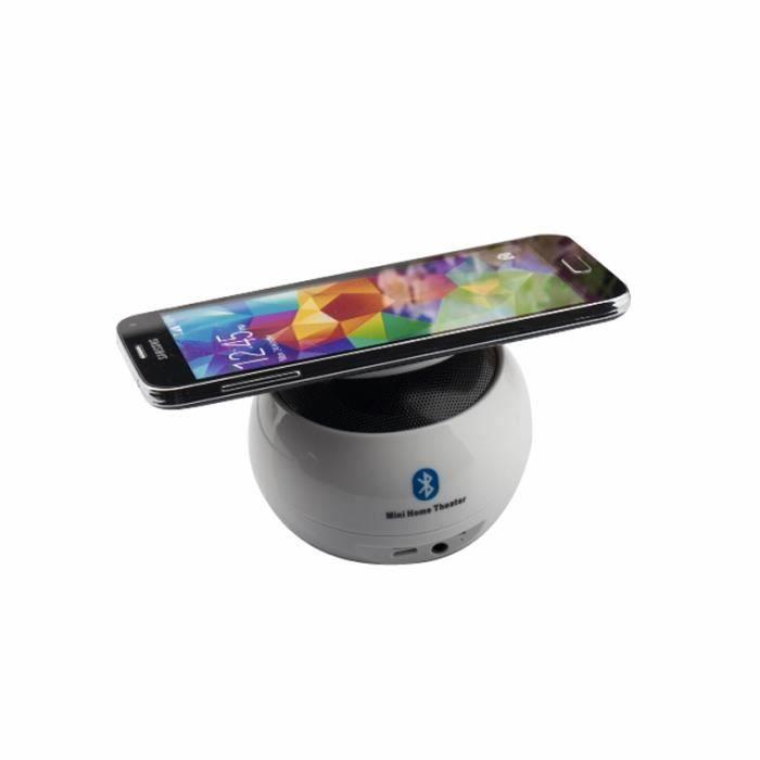 Bluetooth Haut-parleur Mini Base De Téléphone Portable Sans Fil Petite Stéréo Stand Anti-gravité Créative Fxg-sm012blanc