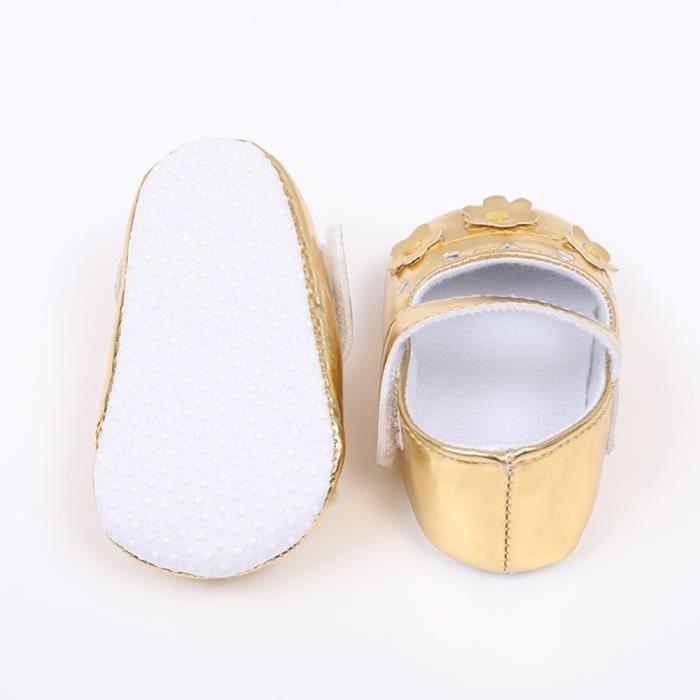 BOTTE Nouveau-né Infantile Bébé Filles Crèche Chaussures Doux Semelle Anti-slip Sneakers Fleur Chaussures@OrHM t5Ksom