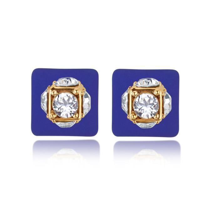 Bonbons Matte féminin bleu avec Ad pierre Simulations Boules Perle double face Boucles doreilles pour Aier_732 WS03Z
