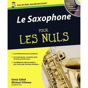 LIVRE MUSIQUE Le Saxophone pour les nuls