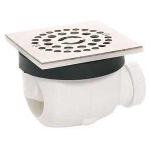 WIRQUIN Bonde de douche D90 Twisto ? débit rapide avec grille en inox Carree