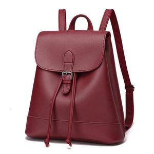 0db67ab441343 SAC À DOS sac a dos cuir classique décontractées sac femme T ...
