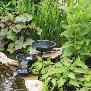 Fontaine pour cascade de bassin achat vente pas cher Accessoires pour bassin de jardin