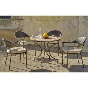 Table de jardin Siena Bairon 4 places + 4 chaises sans cousin (réf ...
