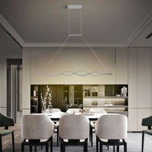 LUSTRE ET SUSPENSION Lustre LED Vagues Suspension Acrylic Moderne 40W
