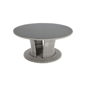 Table ronde resine tressee - Achat / Vente pas cher