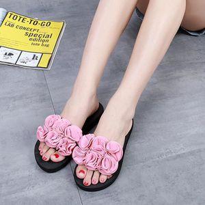 CHAUSSON - PANTOUFLE Chaussures  Femmes été fleur sandales pantoufle Ro ... 79fa43be6fd4