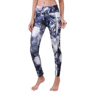 f2bd8cf59f8af PANTALON Femmes taille haute poche imprimé sport gym yoga c