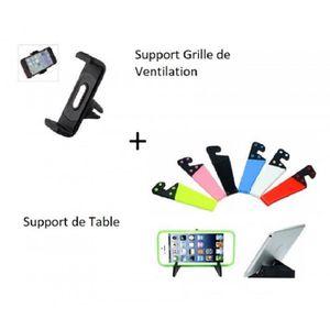 FIXATION - SUPPORT Accessoire Iphone 4 4S, Support pliant de table et