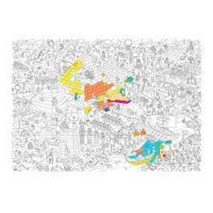 Coloriage Geant Animaux.Poster Geant A Colorier Giant Coloring Poster Pyramid