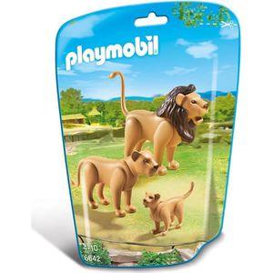 UNIVERS MINIATURE PLAYMOBIL 6642 - Le Zoo - Famille de Lions