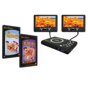 LECTEUR DVD PORTABLE Sigmatek - Pack lecteur DVD portable voiture doubl