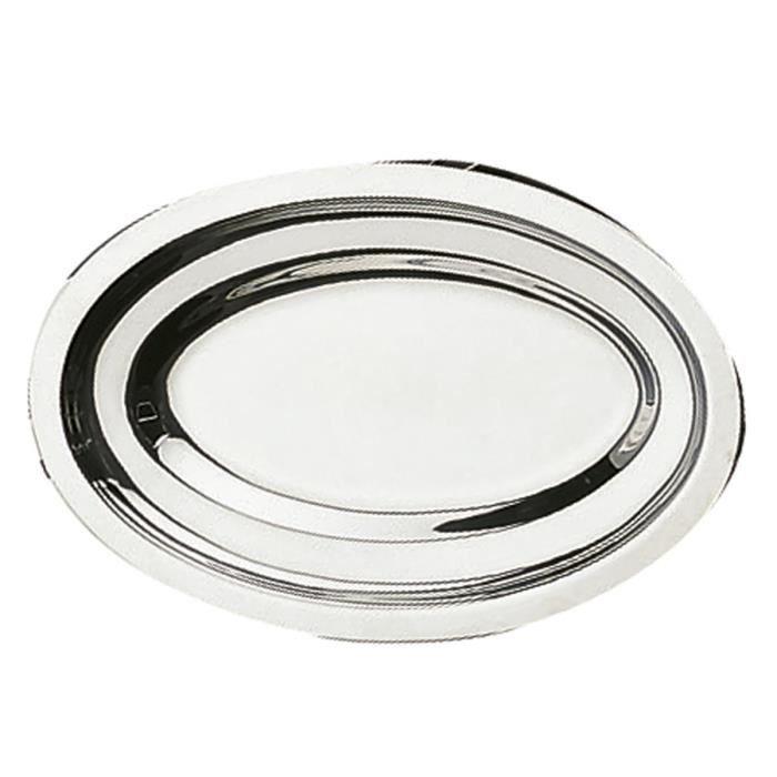 LEBRUN Plat ovale inox 4710428 34cm gris