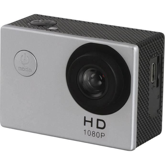 CLIPSONIC Caméra de sport HD - Gris