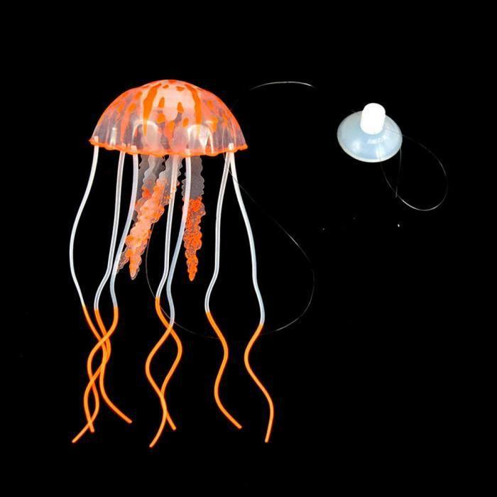 Veberge@ Aquarium Méduse Décoration Glowing Effet Fish Tank Ornement Artificiel Hg461