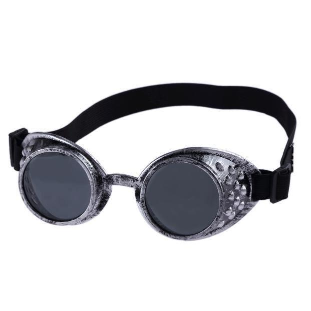 Lunettes de soleil style vintage Steampunk, lunettes de cosplay cosplay de soudage (Vert)