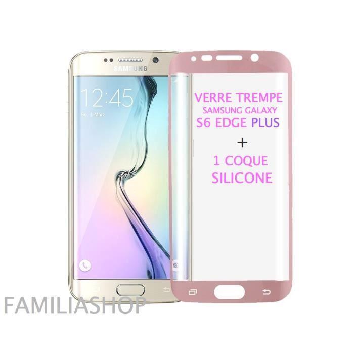 coque galaxy s6 edge silicone rose