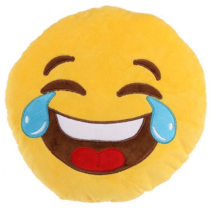 Coussin Moelleux Emoticone Pleure De Rire Achat Vente Coussin
