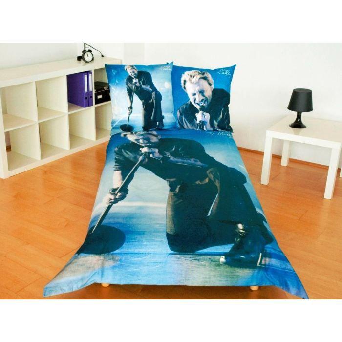 housse de couette johnny hallyday achat vente pas cher. Black Bedroom Furniture Sets. Home Design Ideas