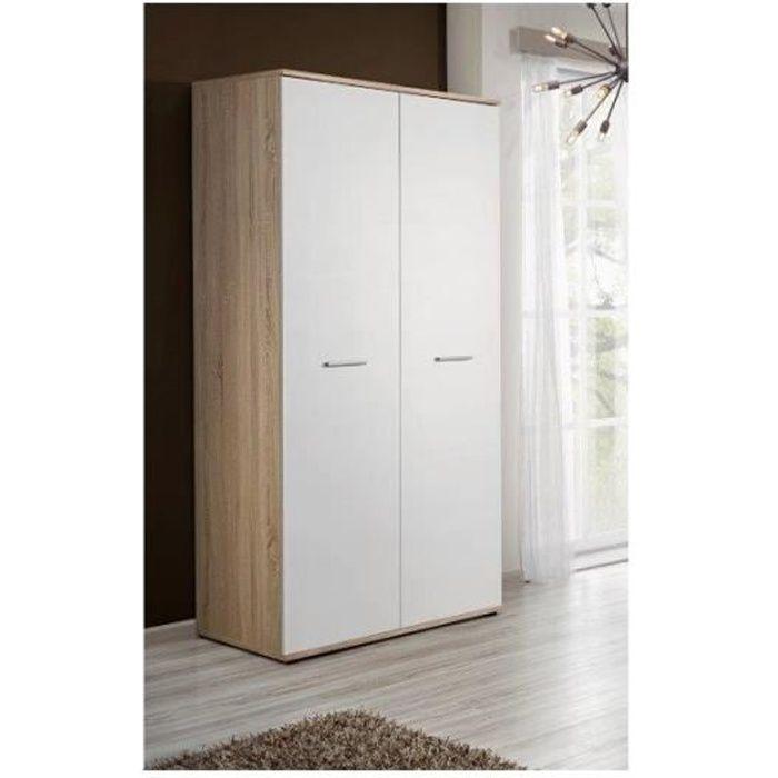 armoire penderie largeur 90 cm achat vente pas cher. Black Bedroom Furniture Sets. Home Design Ideas
