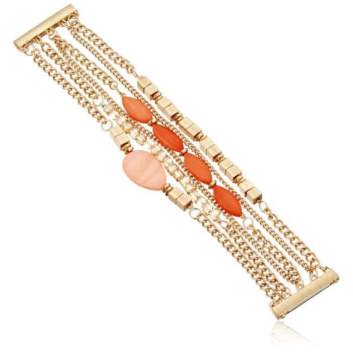 Kenneth Cole New York Coral Canyon Mixed Shell And Bead Multi-row Bracelet OID3V