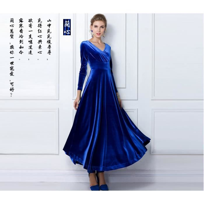 Manches longues longueur V-cou la jupe de femmes de grande taille-FindPitaya