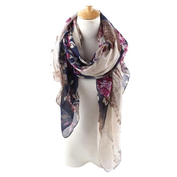 5147032f82fb longue écharpe femme foulard 195x90cm GOGOU 15075