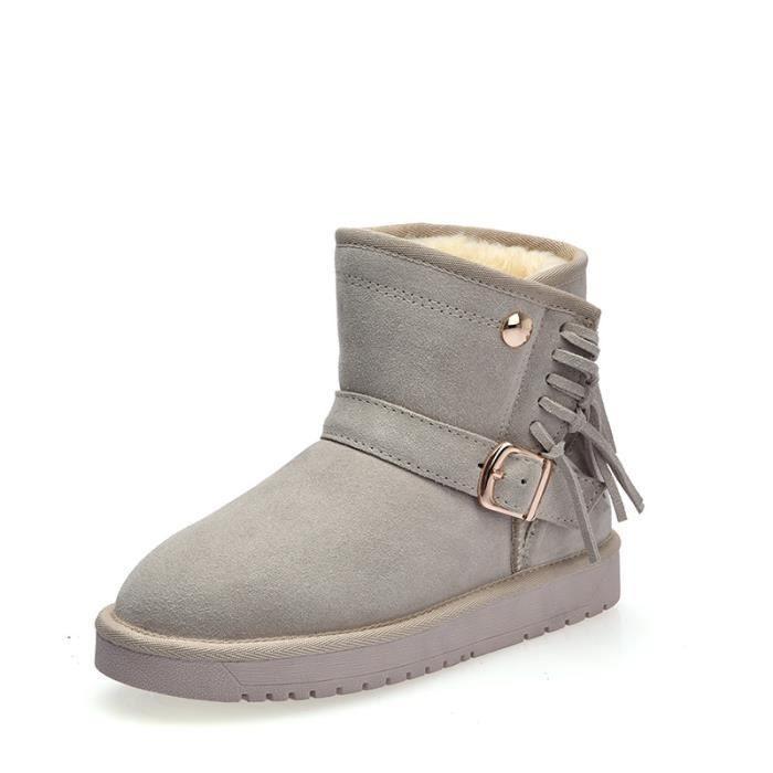 super chaud Bottine bottes de neige en coton femme chaussur Chaussures Martin boots
