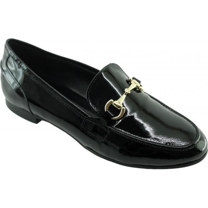 Mocassins confort cuir vernis SIOUX petit talon qP3qoLVqG
